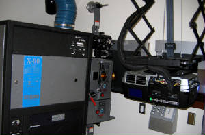 Duel System of DLP and 35mm Projectors